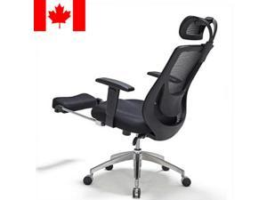 ® Adjustable Mesh Office Chair with Footrest - Black