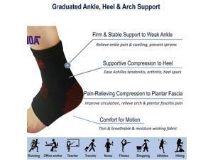 Ankle Brace Support Achilles Tendon Wrap Sleeve Socks Arch Pain Remover Sprain
