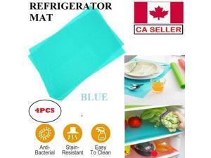4PCS Refrigerator Fridge Mat Washable Pad Waterproof Shelf Drawer Liner Kitchen