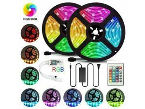 LED Strip Lights 5050 SMD RGB 60Leds/m 10M/32ft Waterproof WIFI IR 10A Adapter