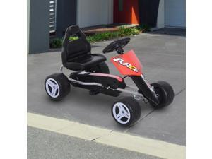 Durable Pedal Go Kart Racing Style Children Ride on Car Red