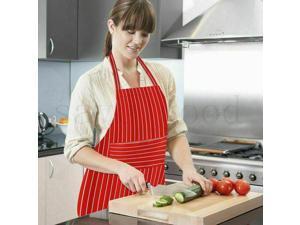 Catering Chef Cooks Butchers BBQ Apron Striped Cooking Baking Bib Men  Women