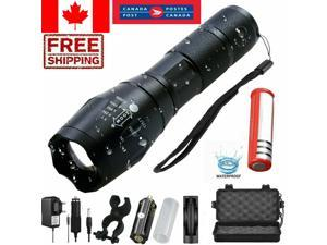 20000LM Tactical T6 LED Flashlight Zoomable 5 Modes Torch Light Rechargelantern