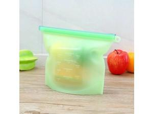 2x Silicone Food Storage Bags Leakproof Zip Seal Stand Reusable Set Pouch Fresh