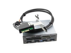 US 3.5 Inch Internal PCI-E PCI Express USB 3.0 HUB Card Reader SD SDHC XD M2 CF