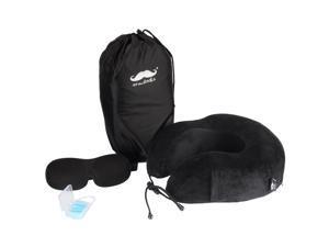 ® Memory Foam Neck U Pillow Travel Kit with Sleep Mask and Earplugs