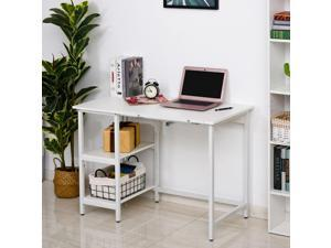 Writing Computer Desk w/ Adjustable Tiltable Tabletop Home Office Workston