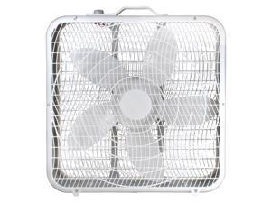 "Comfort Zone CZ200A 20"" 3-Speed Box Fan for Full-Force Air Circulation with Air Conditioner"