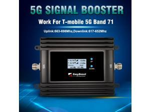5G Signal Booster For T-mobile 600Mhz Band 71 5G Repeater Amplifier Smart LCD With Full Kit For Home/Office/Apartment