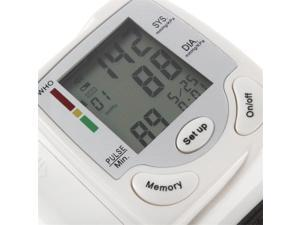 Blood Pressure Monitor Wrist Adjustable Wrist Cuff Digital Home Blood Pressure Meter Accurately Detects Blood Pressure Heart Rate and Irregular Heartbeat, Large LCD Display (White)