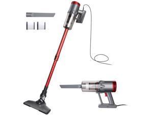 OKP Vacuum Cleaner Corded 17KPa Suction Handheld & Stick Vacuum, Lightweight & Versatile with Metal ?lter and HEPA for Hardwood Floor Pet Hair