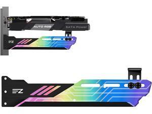 Auto RGB GPU Holder Colorful RGB Graphics Card GPU Support Video Card Holder Bracket, Video Card Sag Holder/Holster Bracket
