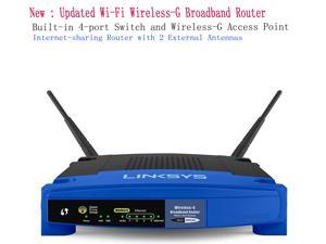 High Performance Linksys WRT54GL Wi-Fi Wireless-G Broadband Router with built-in 4-port Switch and Wireless-G Access Point,Internet-sharing Router with 2 External Antennas up to 54 Mbps