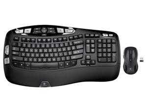 New Logitech MK550 Wireless Keyboard and Mouse Combo — Includes Keyboard and Mouse, Long Battery Life, Ergonomic Wave Design with cushioned palm rest, Powerful 2.4 GHz wireless connection