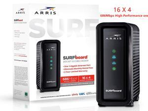 USB 3.0 Cable Modem Supports IPv4 and IPv6 ,ARRIS Surfboard (16x4) DOCSIS 3.0 Cable Modem, Approved for Cox, Spectrum, Xfinity & More, Gigabit Ethernet port
