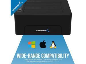 USB 3.0 to SATA Dual Bay External Hard Drive Docking Station for 2.5 or 3.5in HDD, SSD with Hard Drive Duplicator/Cloner Function [10TB Support] HDD/SSD docking station