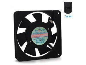 AXIAL 1225 Muffin Fan 115V 120V AC 120mm x 25mm High Speed  DIY Cooling Ventilation Exhaust Projects 2400RPM cooling fan