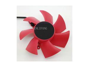 XFX HD 5850 5870 NTK FD8025U12S 0.48A four-wire graphics card fan