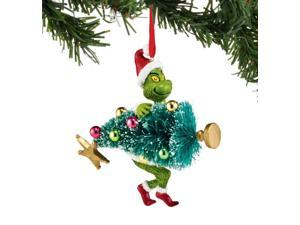 Department 56 Dr Seuss The Grinch Stealing Tree Christmas Ornament 4044988 New