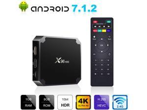 4K Smart Android 7.1 TV Box S905W Quad Core WiFi IPTV Media Player Pre-installed