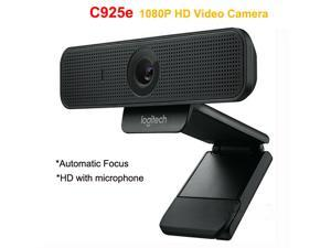 Logitech C925e Professional Business Webcam 1080p Full HD with internal webcam cover usb web camera HD Video and Built-In Stereo Microphones