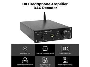 Mini Stereo Gaming DAC & Headphone Amplifier, FX-Audio DAC-X6 MKII 24-Bit/192 KHz USB/Optical/Coaxial to RCA AUX, Digital-to-Analog Audio Converter Adapter for Home/Desktop Powered/Active Speakers