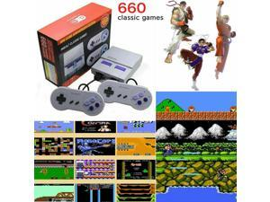 Mini 660 Classic Games Retro Super Classic Modded 8 Bit Game Console Handheld Gaming with With 2 Controllers