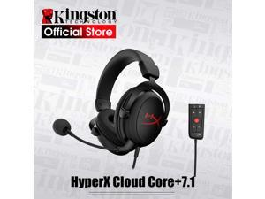 HyperX Cloud Core - Gaming Headset, for PC, 7.1 Surround Sound, Memory Foam Ear Pads, Durable Aluminum Frame, Detachable Noise Cancelling Microphone (Red&Black)