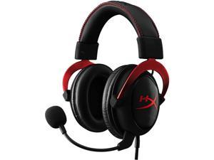 HyperX Cloud II - Gaming Headset, 7.1 Surround Sound, Memory Foam Ear Pads, Durable Aluminum Frame, Detachable Microphone, Works with PC, PS4, Xbox One - Red&Black