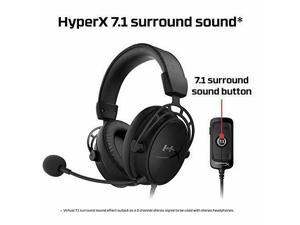 HyperX Cloud Alpha S - PC Gaming Headset, 7.1 Surround Sound, Adjustable Bass, Dual Chamber Drivers, Breathable Leatherette, Memory Foam, & Noise Cancelling Mic