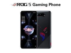 Tencent Version-Original Global Rom Vesion ASUS ROG Phone 5 5G Snapdragon 888 Game Phone RAM 8GB/12GB/16GB ROM 128GB/256GB Dual Sim (GSM Only | No CDMA) Unlocked - Black(In Hand)