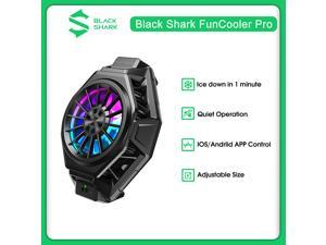 Original  Black Shark FunCooler Pro  Super Bluetooth Compatibility For IOS/Android Smart Adjustable Fun Cooler BR20(Black)