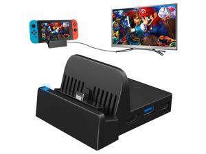 TV Dock Docking Station for Nintendo Switch, Portable Charging Stand,Compact Switch to HDMI Adapter,with Extra USB 3.0 Port, Replacement Official Charging Dock for Nintendo Switch (No Charging Cable)