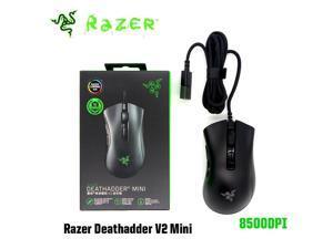 Razer DeathAdder v2 Mini Gaming Mouse: 8500K DPI Optical Sensor - 62g Lightweight Design - Chroma RGB Lighting - 6 Programmable Buttons - Anti-Slip Grip Tape Included - Classic Black