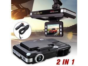 2 In 1 Anti Radar Detector Car DVR Camera Flow Detecting Dash Cam Car Recorder 720P