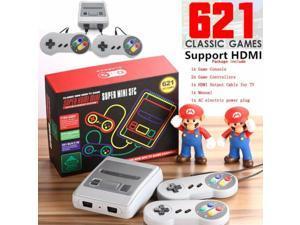 Classic Mini Retro Console: Super 8 Bit  Entertainment System TV VIDEO GAMES CONSOLE, SMART HDMI CLASSIC BUILT IN 621 GAMES 2 CONTROLLER