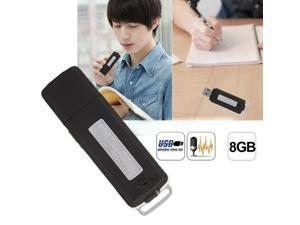 Mini Digital Voice Recorder, USB Flash Drive memo Voice Recorder, Audio Activated Tape Recorder Dictaphone with Dual USB for Meeting,8GB- 94 Hours Capacity (Black)