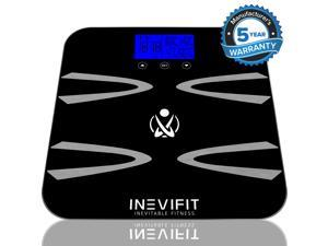 INEVIFIT BODY-ANALYZER SCALE, Highly Accurate Digital Bathroom Body Composition Analyzer, Measures Weight, Body Fat, ...