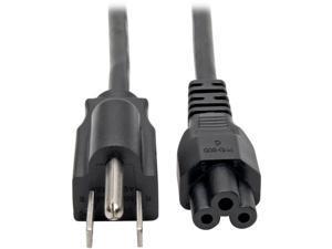 Tripp Lite Model P013-003 3 Feet Standard Laptop/Notebook Power Cord, 10A (NEMA 5-15P to IEC-320-C5) Connector ANEMA 5-15P Connector BIEC-320-C5
