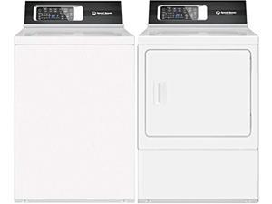 "Speed Queen White Laundry Pair with TR7000WN 26"" Top Load Washer and DR7000WG 27"" Gas Dryer"