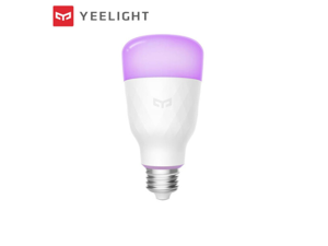 YEELIGHT Smart WiFi LED RGB Bulb, A19, Multi Color, Dimmable, 60W Equivalent, Works with Amazon Alexa and Google Assistant