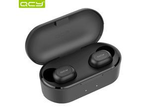 QCY T2C TWS Earphone Blutooth 5.0 Headphone 3D stereo Dual Mic Noise Cancelling Headset with charging box-Black