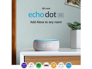 All-new Echo Dot (3rd Gen) - Smart speaker with clock and Alexa - Sandstone Echo Dot with clock (Sandstone only) Device only