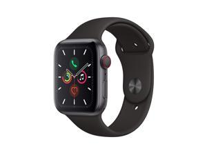 Apple Watch Series 5 (GPS + Cellular, 44mm) - Space Gray Aluminum Case with Black Sport Band Space Gray Aluminum with Black Sport Band
