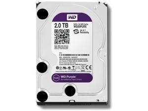WD Purple 2TB Surveillance Hard Disk Drive - 5400 RPM Class SATA 6 Gb/s 64MB Cache 3.5 Inch - WD20PURX [Old Version]