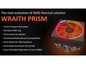 AMD Wraith Prism LED RGB Cooler Fan for Ryzen 7 2700X / 3700X  / 3800X and Ryzen 9 3900X 3900XT Processors