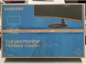 "Samsung - T55 Series C27T550FDN 27"" 1000R Curved Monitor - Dark Gray"
