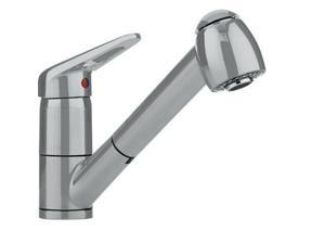 Franke FF2280 Ribera Series Pull-Out Spray Faucet in Satin Nickel