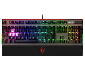 MSI Vigor GK80 Mechanical GAMING Keyboard, Cherry MX Red, RGB Backlit 104 Keys