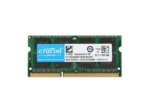 Micron Ram PE234454 EDGE 8GB (1X8GB) PC312800 204 PIN DDR3 SO DIMM - 8 GB (1 x 8 GB) - DDR3 SDRAM - 1600 MHz DDR3-1600/PC3-12800 - 204-pin - SoDIMM (Crucial CT102464BF160B Equivalent)